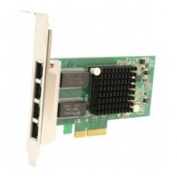 POWERTECH Κάρτα Επέκτασης PCI-e to 4x LAN 10/100/1000, Chip Intel i350