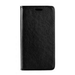 POWERTECH Θήκη Leather magnet για Huawei Y9 2018, μαύρη