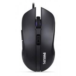 PHILIPS ενσύρματο gaming ποντίκι SPK9313, 2400DPI, 6 πλήκτρα, μαύρο