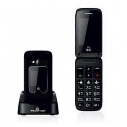 POWERTECH Κινητό Τηλέφωνο Sentry Dual, 2 οθόνες, SOS Call, φακός, μαύρο