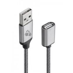 POWERTECH Καλώδιο USB (M) σε USB (F), prime, 480Mbps, 1.5m, γκρι