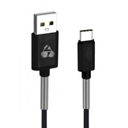 POWERTECH Καλώδιο USB σε Type-C flex alu PTR-0023, copper, 1m, μαύρο