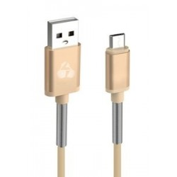 POWERTECH Καλώδιο USB σε Micro USB flex alu PTR-0016, copper, 1m, χρυσό