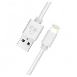 POWERTECH Καλώδιο USB σε Lightning prime PT-706, MFi, copper, 1m, λευκό