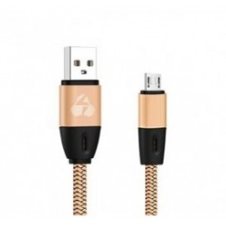 POWERTECH Καλώδιο USB σε Micro USB eco flat PTR-0033 copper, 1m, χρυσό