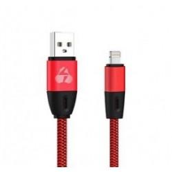 POWERTECH Καλώδιο USB σε Lightning eco flat PTR-0036 copper 1m, κόκκινο