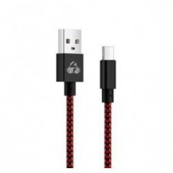 POWERTECH Καλώδιο USB σε Type-C eco small PTR-0032 copper, 1m, κόκκινο