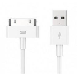 POWERTECH Καλώδιο USB 2.0 σε iPad & iPhone 4/4S CAB-U024, λευκό, 1m