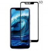 POWERTECH Tempered Glass 5D Full Glue για Nokia 5.1 Plus, Black