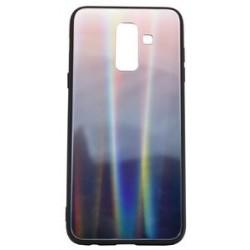 POWERTECH Θήκη Aurora Glass για Samsung A6 Plus 2018, καφέ-μαύρη