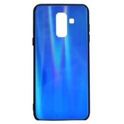 POWERTECH Θήκη Aurora Glass για Samsung A6 Plus 2018, σκούρο μπλέ