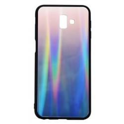 POWERTECH Θήκη Aurora Glass case για Samsung J6 Plus 2018, καφέ-μαύρη