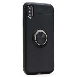 POWERTECH Θήκη Ring TPU για iPhone XR, μαύρη