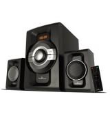 POWERTECH Ηχεία 2.1ch Bluetooth, 60W RMS, AUX/FM, τηλεχειριστήριο, μαύρα