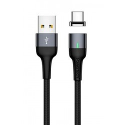 POWERTECH Καλώδιο USB 2.0 σε Type-C PT-752, μαγνητικό, 1m, μαύρο