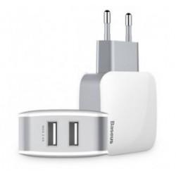 BASEUS φορτιστής τοίχου ZCL2B-B02, 2x USB, 2.4A, λευκός