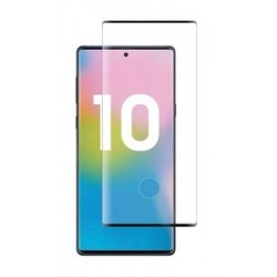 POWERTECH Tempered Glass 3D για Samsung Note 10, mini, half glue, μαύρο