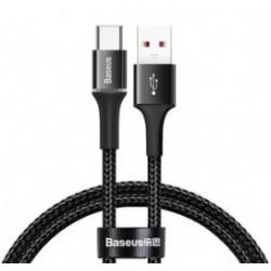 BASEUS καλώδιο USB σε Type-C CATGH-F01, LED, 5A 40W, 0.5m, μαύρο