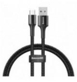 BASEUS καλώδιο USB σε Micro CAMGH-A01, LED, 3A, 0.5m, μαύρο