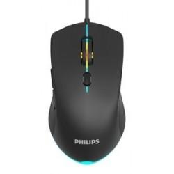 PHILIPS ενσύρματο gaming ποντίκι SPK9404, 2400DPI, 6 πλήκτρα, μαύρο