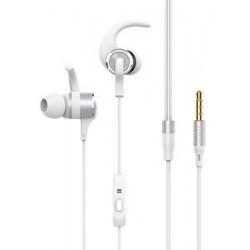 YISON Sports earphones EX230-WH με μικρόφωνο, 10mm, 1.2m, λευκό