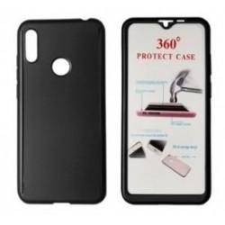 POWERTECH Θήκη Body 360° με Tempered Glass για Huawei Y6/Pro 2019, μαύρη