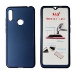 POWERTECH Θήκη Body 360° με Tempered Glass για Huawei Y6/Pro 2019, μπλε