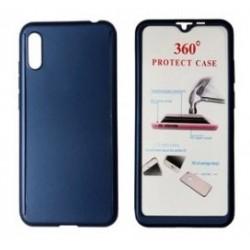 POWERTECH Θήκη Body 360° Tempered Glass, Huawei Y5 2019/Honor 8S, μπλε