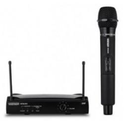 VOICE KRAFT Σετ ασύρματο μικρόφωνο με δέκτη, jack 6.3mm, μαύρη