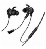 BASEUS earphones GAMO H15, 3.5mm, με διπλό εύκαμπτο μικρόφωνο, μαύρα