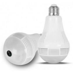 Λάμπα με ενσωματωμένη κάμερα SPY-012, HD 960p, Wi-Fi, 360°, λευκή