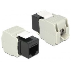 DELOCK Keystone Module RJ45 female, Cat.6 UTP, μαύρο