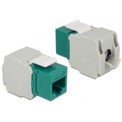 DELOCK Keystone Module RJ45 female, Cat.6 UTP, πράσινο