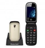 POWERTECH Κινητό Τηλέφωνο Sentry Global PTM-20, SOS Call, φακός, χρυσό