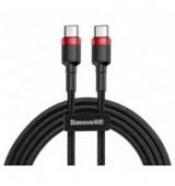 BASEUS καλώδιο USB Type-C CATKLF-G91, 3A 60W, PD2.0, 2m, μαύρο-κόκκινο