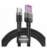 BASEUS καλώδιο USB σε Type-C CATKLF-PG1, 40W, double-sided, 1m, γκρι
