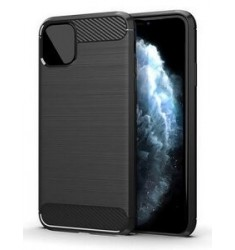 POWERTECH Θήκη Carbon Flex MOB-1547 για iPhone 12 mini, μαύρη