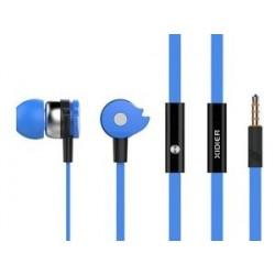 CELEBRAT Earphones με μικρόφωνο D1, on/off, 10mm, 1.2m flat, μπλε