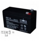 POWER KINGDOM μπαταρία μολύβδου PS7-12, 12Volt 7Ah, T2
