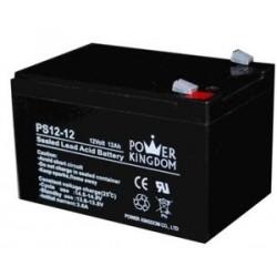 POWER KINGDOM μπαταρία μολύβδου PS12-12, 12Volt 12Ah