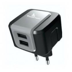 POWERTECH Φορτιστής PT-505, 2x USB, 2.4A, Black