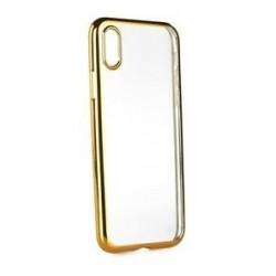 POWERTECH Θήκη Metal TPU για iPhone X, Gold