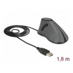 DELOCK Εργονομικό Vertical Mouse, Οπτικό, ενσύρματο, 5 buttons