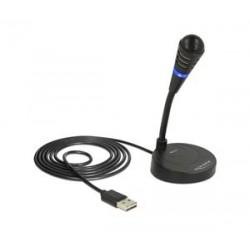 DELOCK USB μικρόφωνο 65868 με βάση και mute button