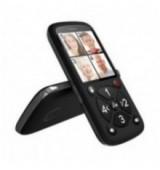 POWERTECH Κινητό Τηλέφωνο Aid+ 4 Αριθμοί Κλήσης με Φακό, FM Radio, Black
