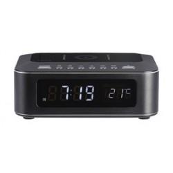 THOMSON Ξυπνητήρι CR400IBT, Βluetooth, USB, ασύρματη φόρτιση, LED, μαύρο