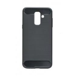 POWERTECH Θήκη Carbon Flex για Samsung Galaxy A6 Plus, μαύρη