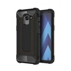 POWERTECH θήκη Hybrid Protect για Samsung Galaxy A8 Plus 2018, μαύρη